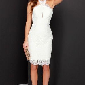 Ivory lace dress, M, NWOT
